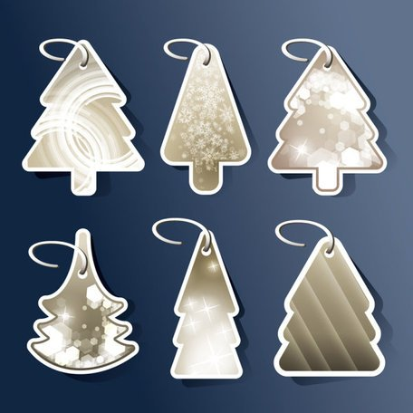 Beautiful design of Christmas tree icon