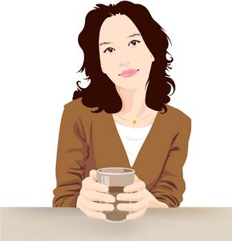 Beautiful Girl with a cup of coffee 2