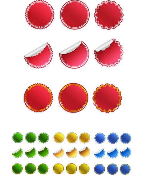 36 Sticker Templates Ultimate PSD Pack New