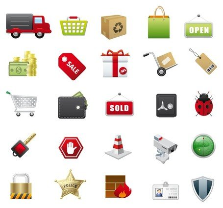 Iconos vectoriales de E-Commerce