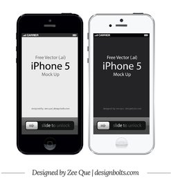 Apple iPhone 5 Mockup frontal