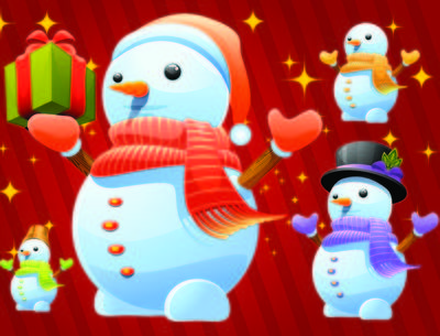 Cute Winter Snowman Pack with Gifts