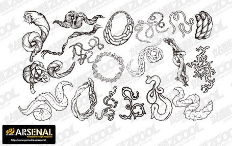 Go Media Vector material Set13-Chupin trend of rope chain