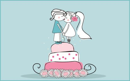 Cartoon-style Wedding Elements 02- Vector Material Cartoon Style Illustration
