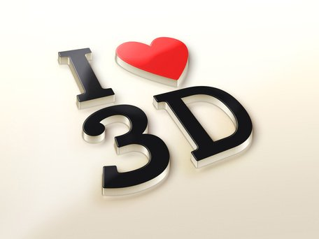 I Love 3D Logo makieta