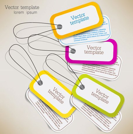 Exquise creatieve label sticker vector-6