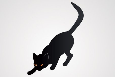 Chat noir Illustration vectorielle (gratuite)