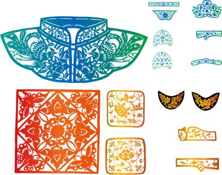 Elements of classical dress pattern