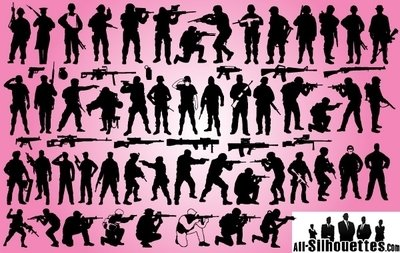 Soldat & Weapon Pack Silhouette