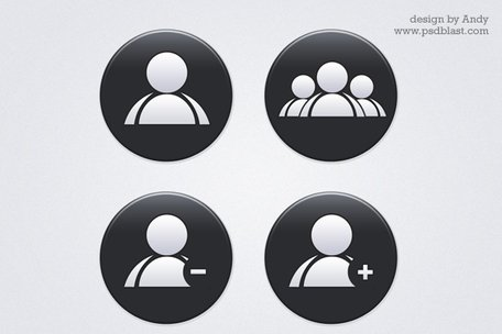 Vector shape user icon PSD