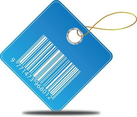 Free Vector Barcode Price Tag