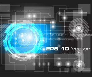 Vector Background Techno