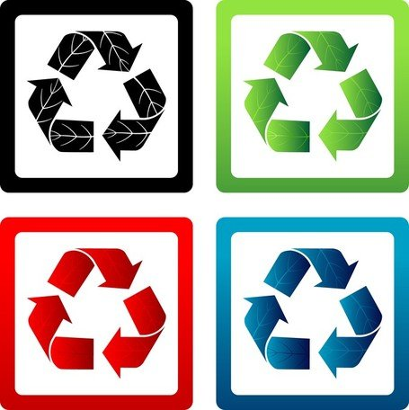 Set Vector Recycle symbolen