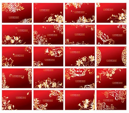 Vector red card patterns