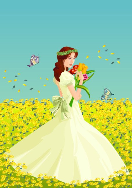 Flowers in the bride