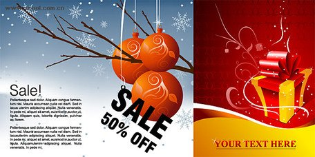 Winter discount sales and gift pattern