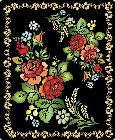 Folk floral painting