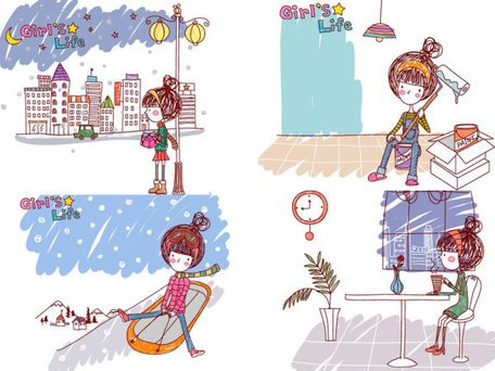 Girl's life, Vector EPS Girl's Life9