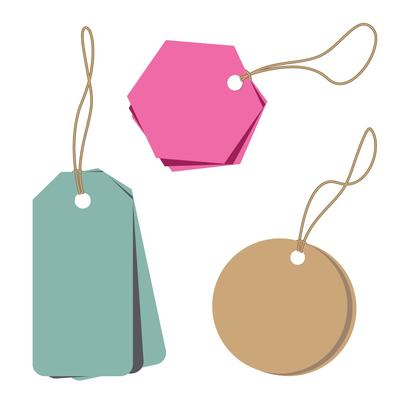 Minimalist Abstract Price Tags