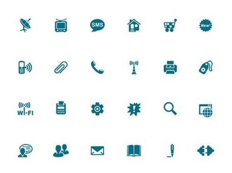 Blue Style Icon Vector Set