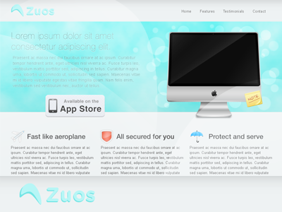 Zuos Landing Page
