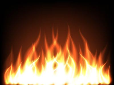 Realistic Leaping Flames Background