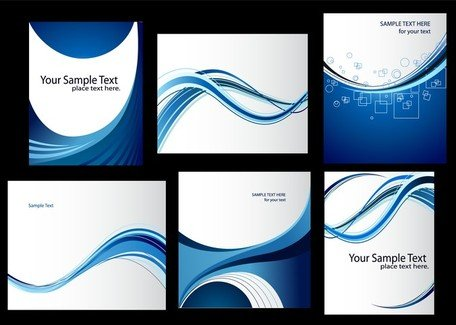 Dynamic Lines Of The Blue Card Template