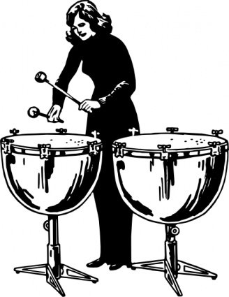 Woman Playing Kettledrums