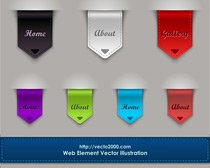Web-Element. Bladwijzers en Banner