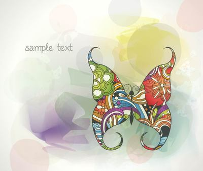 Colorful Abstract Background mit Schmetterling