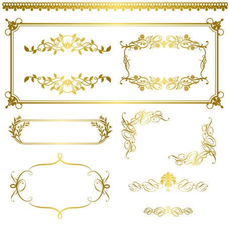 Gold lace pattern 05