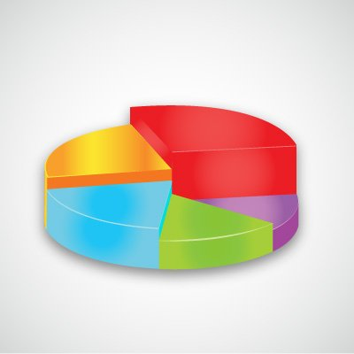 Pie chart vector Color graph for design and business concept