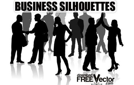 Free Vector of Business Silhouettes