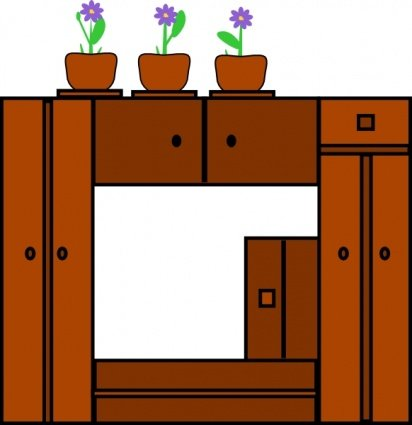 Plants On Wooden Frame