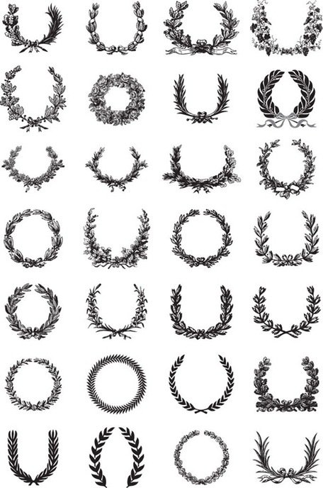 Ornate Wreath Vector Set