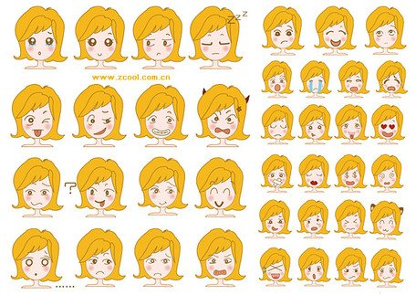 Cute girl picture expression