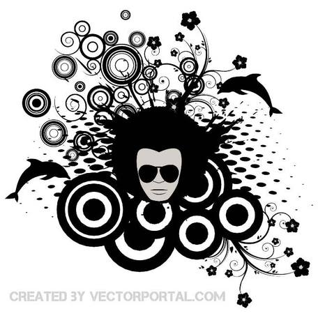 ABSTRACT RETRO STYLE STOCK VECTOR.eps