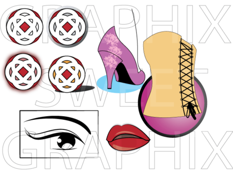 Fashion Vector Pack - Eyes, Lips, Heels