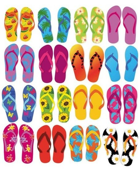 Flip-Flops coloridos Vector Set