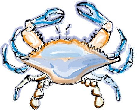 free blue crab clipart and vector graphics clipart me rh clipart me blue claw crab clipart