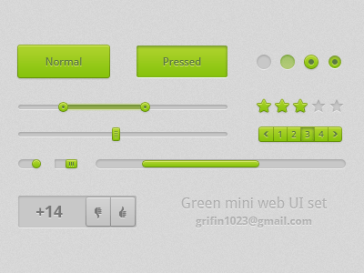 Green web ui set