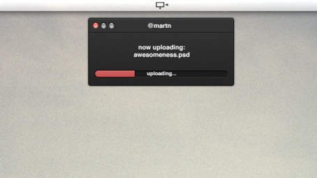 Uploader Mac App UI