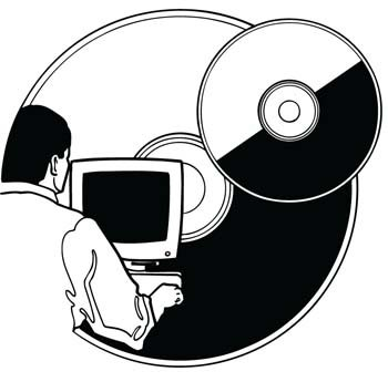 Cdrom and dvdrom vector 1