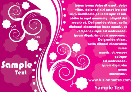 Carte rose abstraite