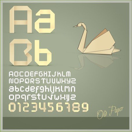Creative Letters origami creative letters 03, cliparts - clipart