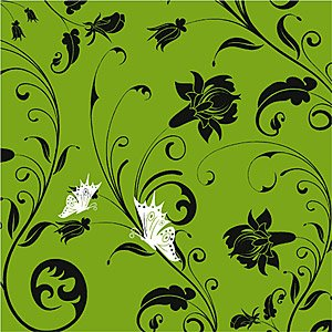 Vector fashion flowers background material
