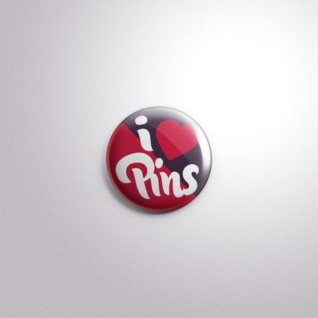 PSD knop Badge Pin Mock-Up