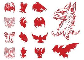 Heraldiska Eagles Set