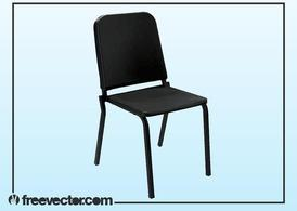 Black Plastic Chair