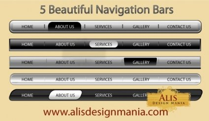5 Beautiful Web Navigation Bars